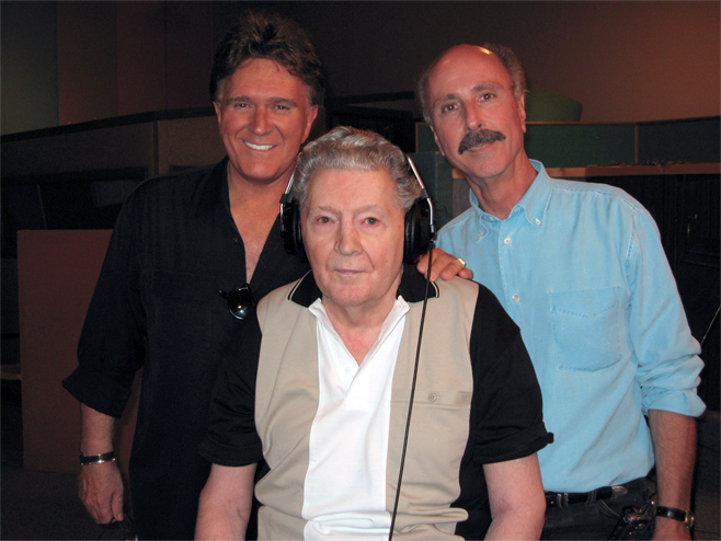 Denny in the studio with Jerry Lee Lewis and TG Sheppard